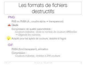 Les formats de fichiers destructifs