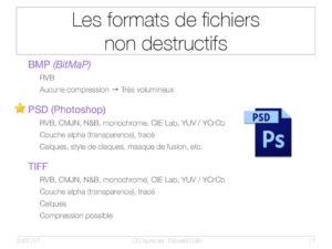 Les formats de fichiers non destructifs