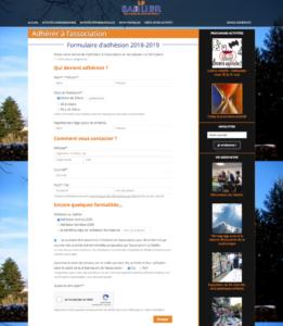 Formulaire d'adhésion en ligne