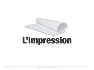 L'impression