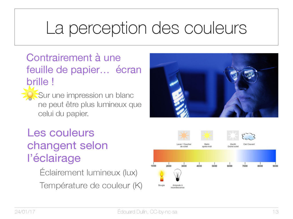 La perception des couleurs