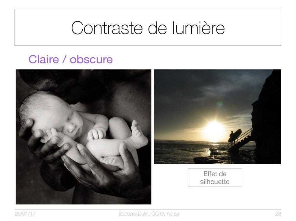 Contraste de lumière