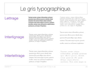 Le gris typographique