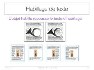Habillage de texte