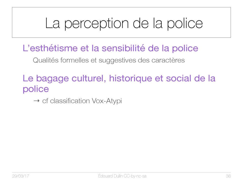 La percepetion de la police