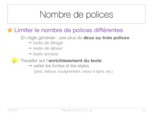 Nombre de polices