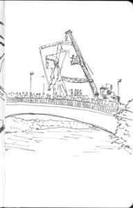 Les machines de l'Ile : la mamie traversant le pont