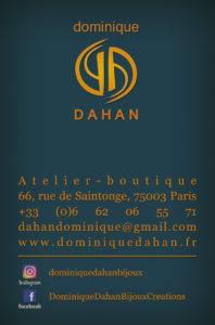 Carte de visite Dominque Dahan