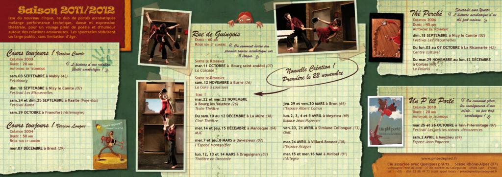 Carte de la tournée, dépliant 3 volets (interieur)