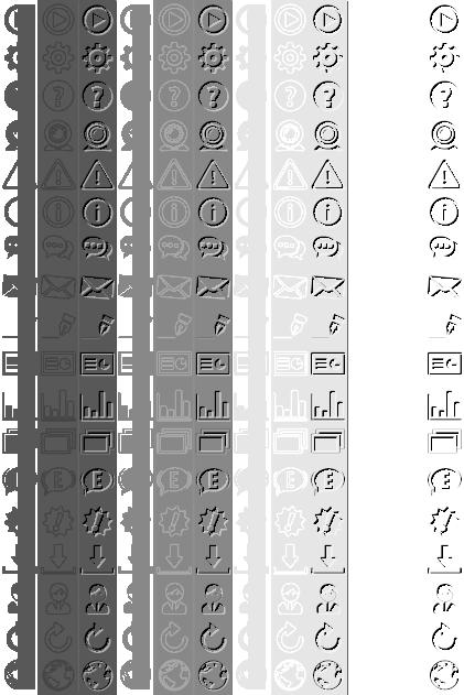 Pictogramme transparents pour couleur dynamique
