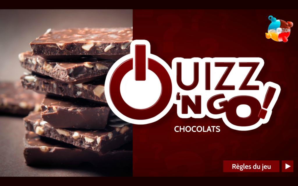"""Quizz-n-Quizz'N Go : Jeu QCM pour Nestlé (thème """"Chocolats"""")go-chocolats-1"""
