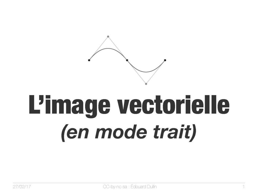 L'image vectorielle (en mode trait)