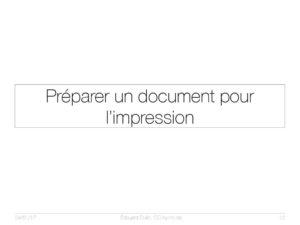 Préparer un document pour l'impression