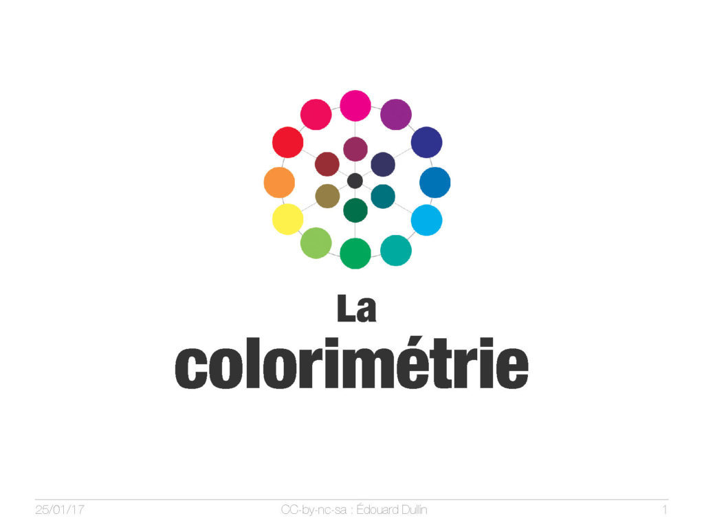 La colorimetrie