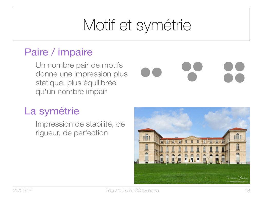 Motif et symetrie