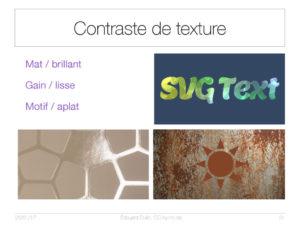 Contraste de textures
