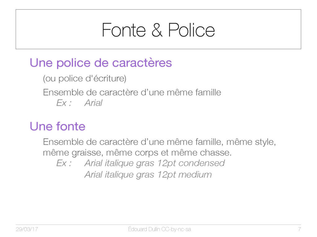 Fonts & police