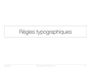 Règles typographiques