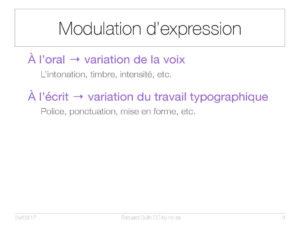 Modulation d'expression