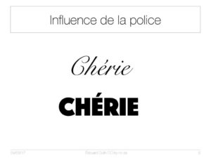 Influence de la police