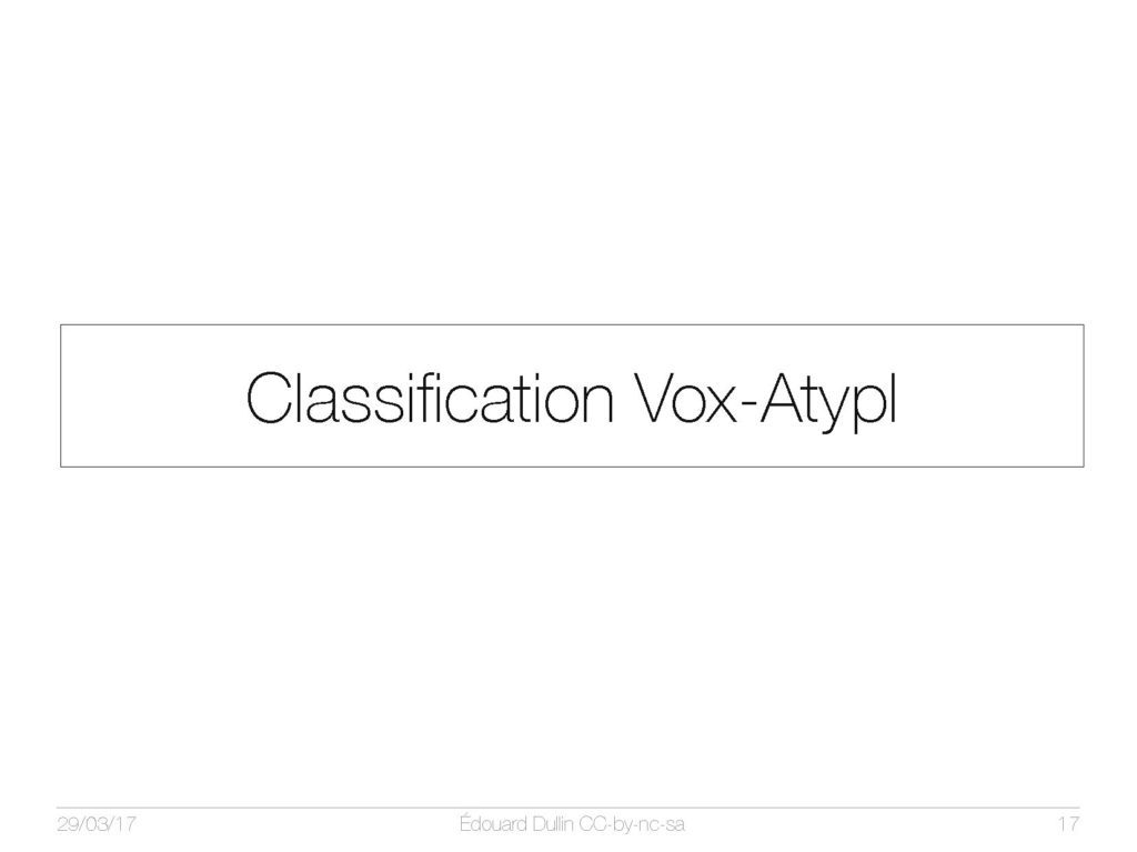 Classification Vox-AtypI