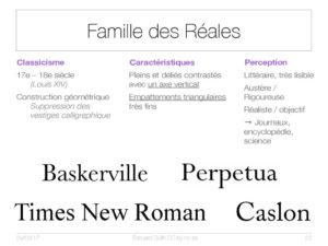 Famille des Réales