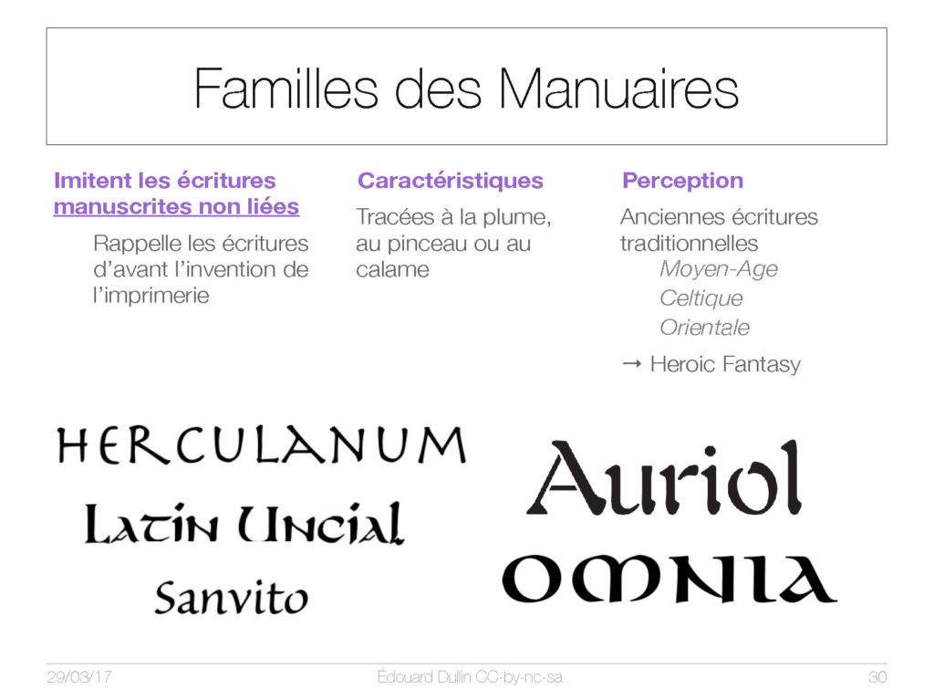 Famille des Manuaires