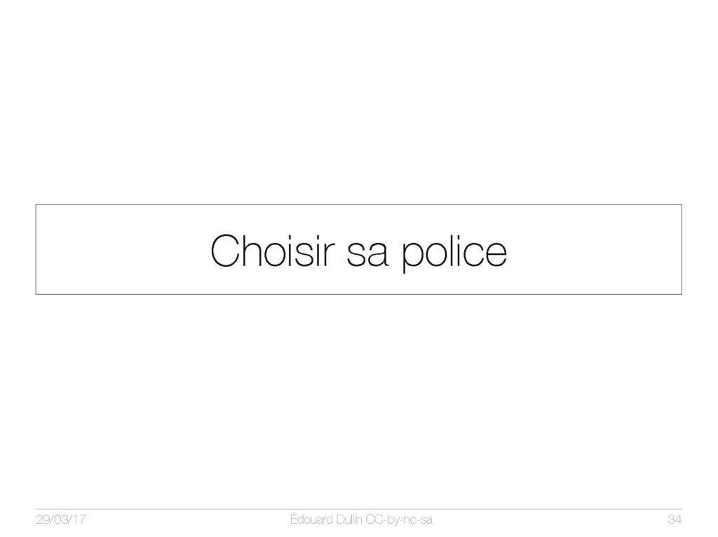 Choisir sa police